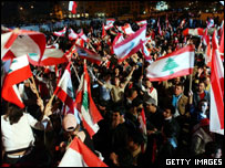 Anti-Syrian demonstration in Lebanon