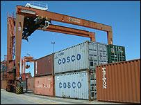 Containers en el puerto de Buenos Aires