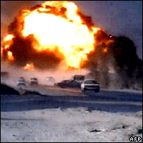 Image from video released by al-Qaeda showing attack on US forces