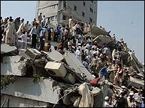 Collapsed building in Islamabad