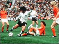 Partido de Holanda contra Alemania en el Mundial de 1974