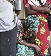 Aids patient waiting for treatment