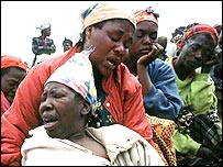Burial of Aids victim, Zambia