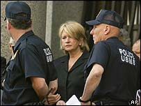 Martha Stewart outside court