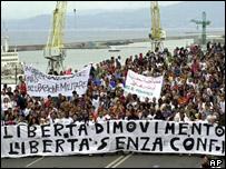 G8 protesters in Genoa
