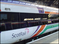 First ScotRail train