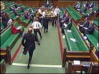 Hunt protesters invade the Commons