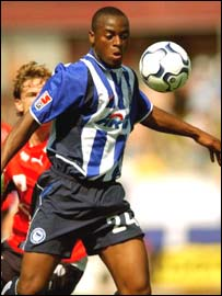 Hertha Berlin striker Nando Rafael