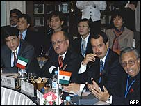 India hosted an oil conference with Middle East countries.