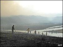 Fires in Torres del Paine