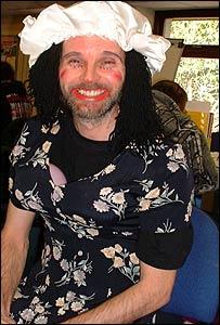 David Matthews in drag