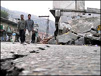 View of damage in Muzaffarabad