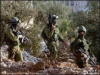 دورية اسرائيلية في الضفة الغربية
