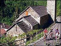 Row of houses in Switzerland