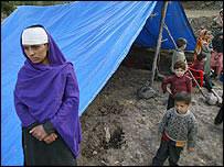 Damnificados del terremoto en Pakistán