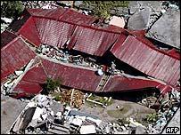 Demolished building in Pakistan
