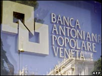 A sign outside a branch of Banca Antonveneta