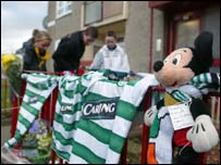 Tributes outside Andrew Morton's home