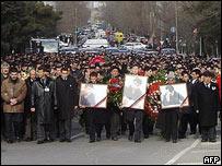 Funeral of Azeri journalist Elmar Huseynov