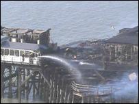 Southend Pier fire