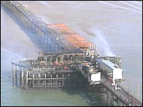 The fire at Southend Pier