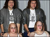 Little Britain duo Lucas and Walliams and their wax alter egos