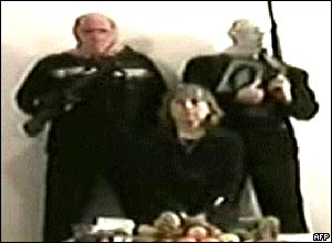 Ms Sgrena was shown on al-Jazeera television with her captors before being released.