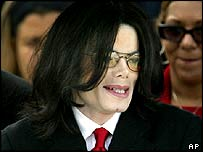 Jackson leaving court on Friday, 5 March