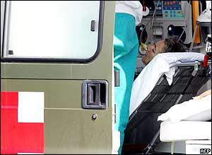 Sgrena in an ambulance