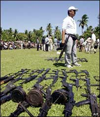 Acehnese rebel weapons