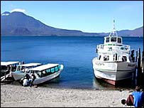 Lake Atitlan before flooding caused by Tropical Storm Stan
