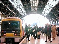 Victoria station platform