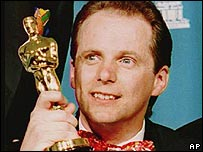 Nick Park with his Oscar