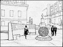 Sketch of the memorial