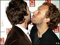 Noel Gallagher and Chris Martin