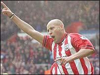 Southampton midfielder Nigel Quashie