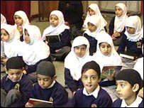 Students at Islamia School