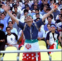 Iranian fans at a football match