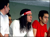 A long-haired Persepolis fan