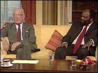 Lord Carrington and Simbarashe Mumbengegwi