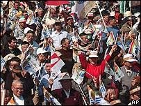 Manifestantes en Taiw�n.