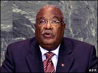 Haiti's interim Prime Minister, Gerard Latortue