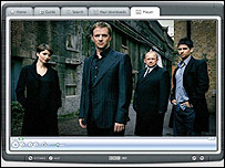 Spooks viewed on integrated Media Player