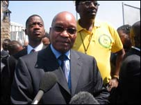 Zuma outside court
