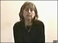 Video grab of Giuliana Sgrena during her captivity