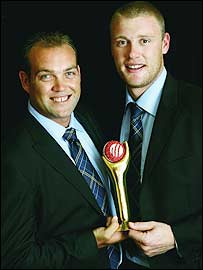 ICC player of the year joint winners Jacques Kallis and Andrew Flintoff