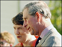 Prince Charles and Helen Clark