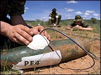 British troops clear unexploded ordnance in Kenya