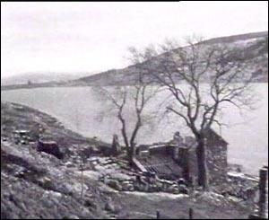 Tryweryn valley, half flooded
