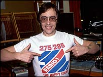 Tommy Vance in BBC Radio 1 T-shirt